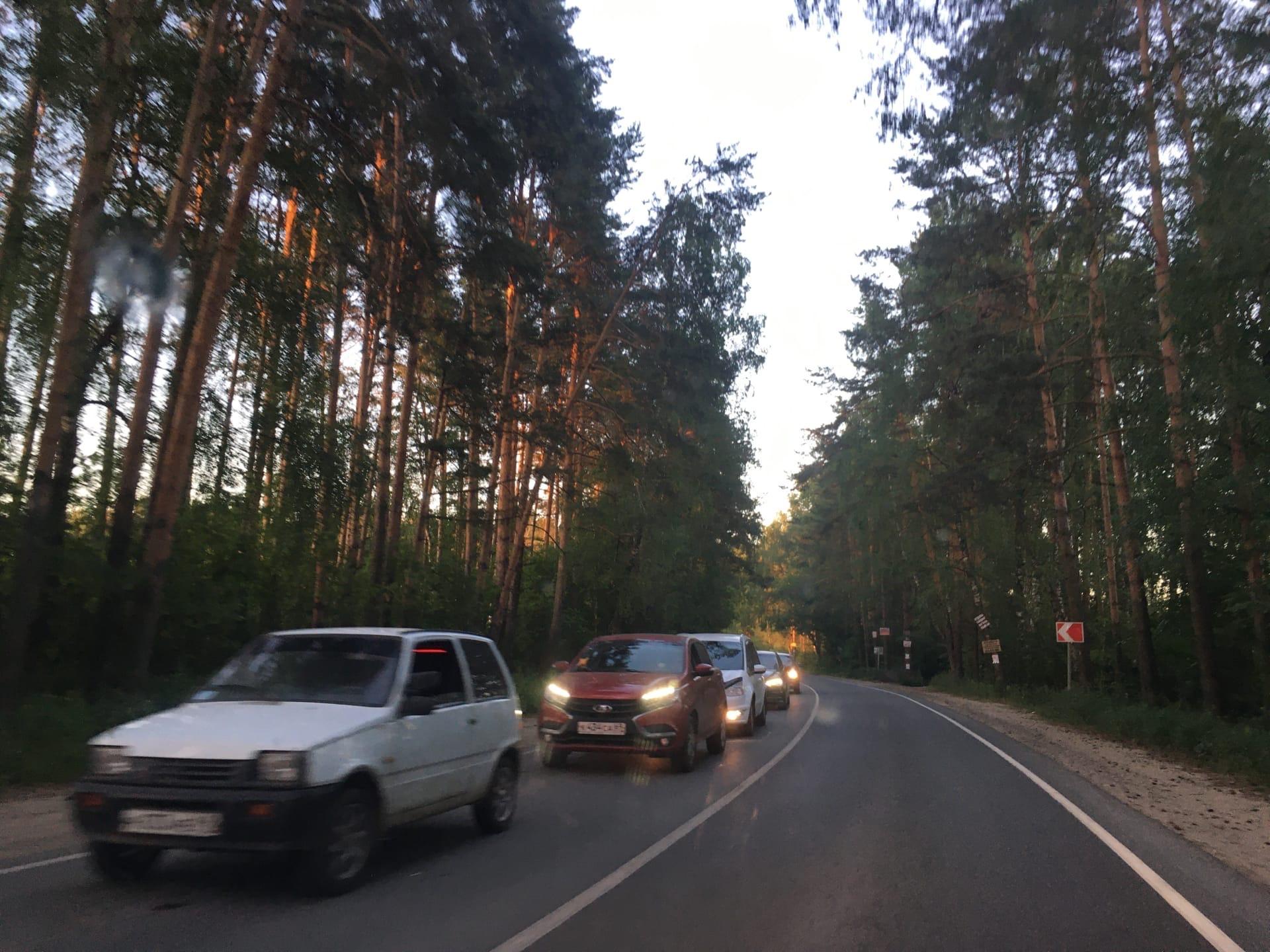 На въезде в Тверь выросла многокилометровая пробка