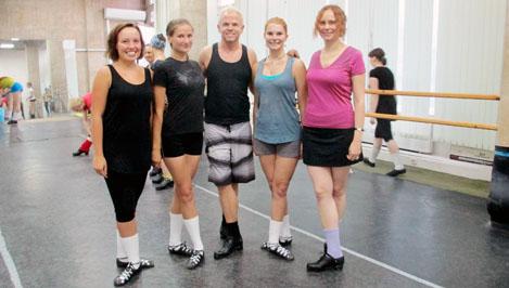 Студентки ТвГТУ взяли мастер-класс по ирландским танцам