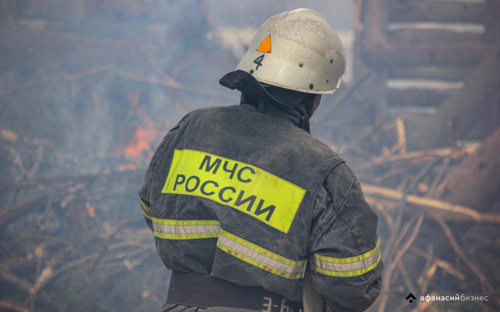 В Тверской области из-за пожара в бане едва не сгорел дом