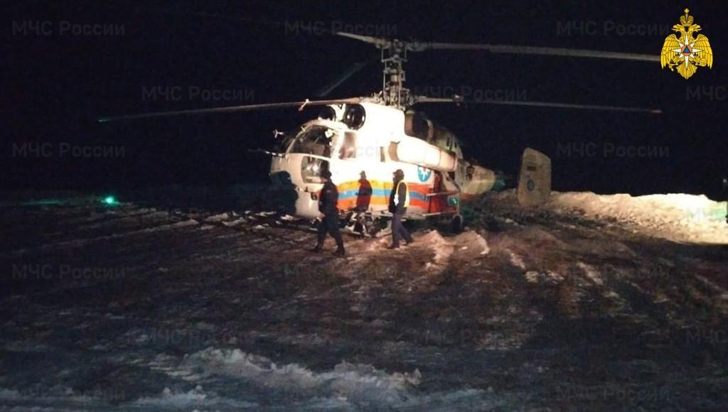 Ночью вертолет МЧС доставил в Тверь пациента из Лесного