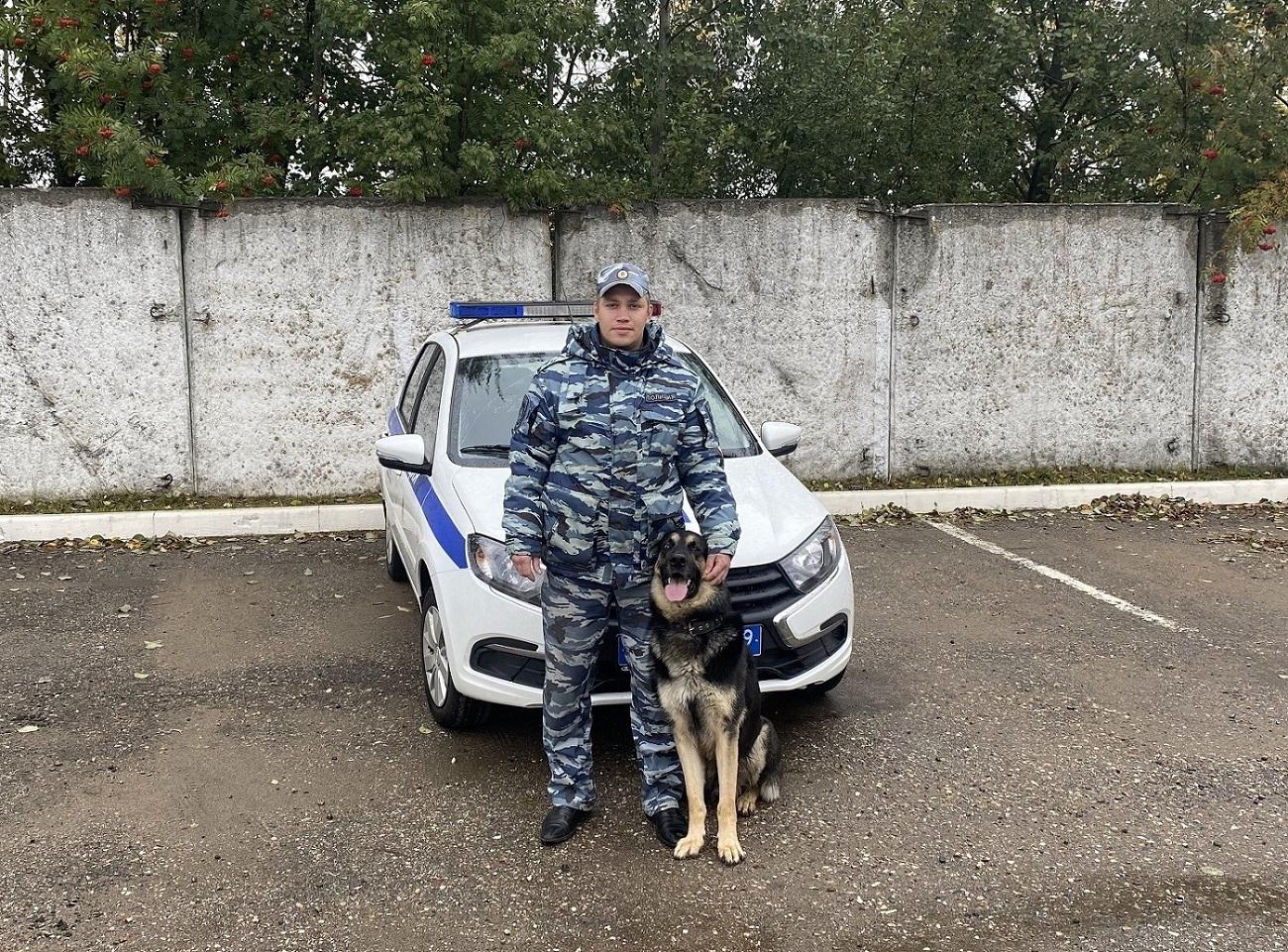 В Тверской области овчарка Хан помогла девочке найти ее украденный телефон