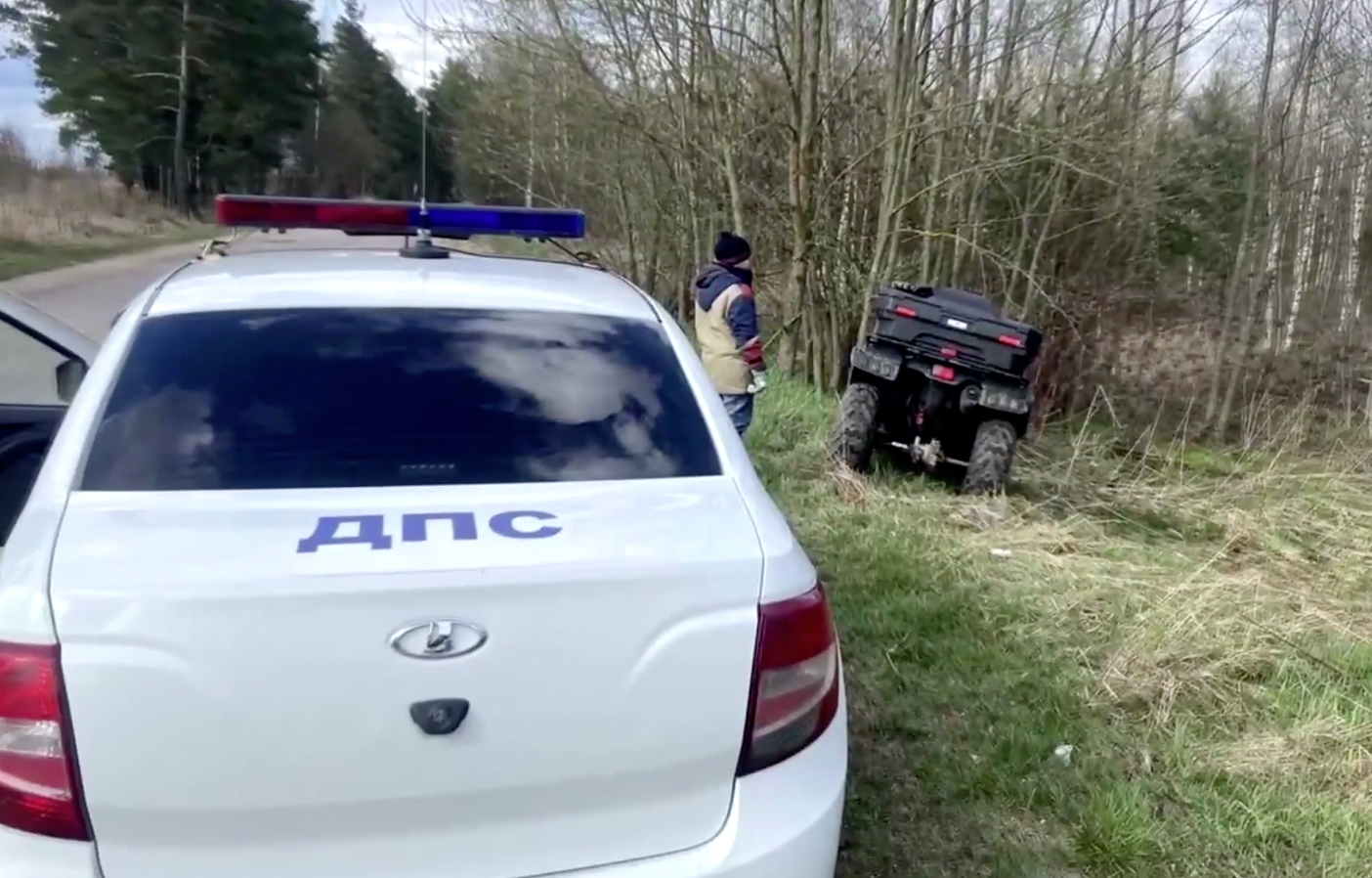 Опубликовано видео погони ДПС за пьяным мужчиной с ребенком на квадроцикле под Тверью - новости Афанасий