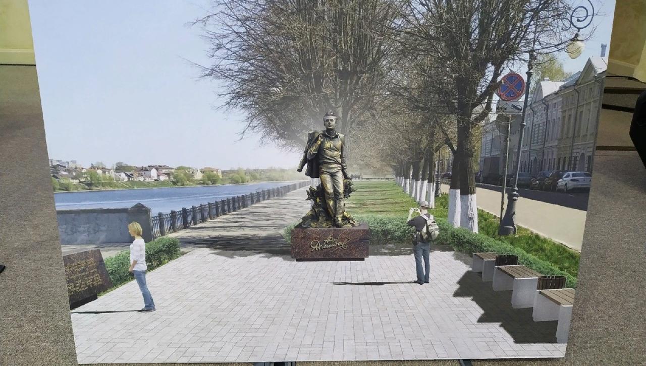 Весной в Твери начнeтся благоустройство территории для памятника Андрею Дементьеву