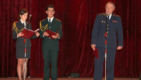 Кадетов Твери поздравили с юбилеем роты