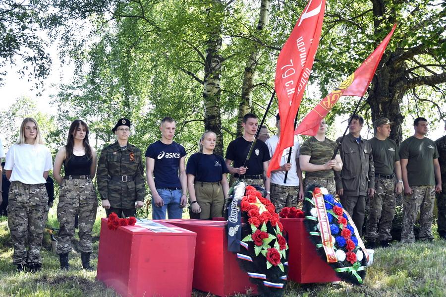 В Старицком районе прошло перезахоронение тридцати двух красноармейцев