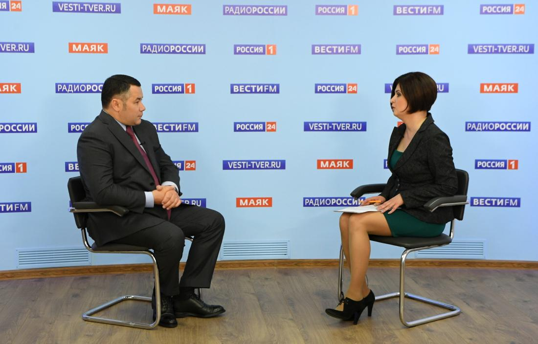 Игорь Руденя в прямом эфире «России 24» ответил на актуальные для жителей Верхневолжья вопросы - новости Афанасий