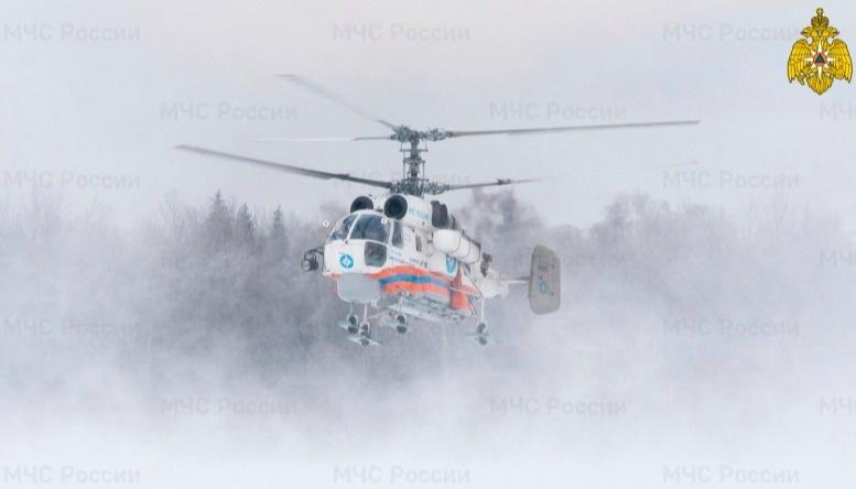 Санитарный вертолет вылетал к больному в Бежецк