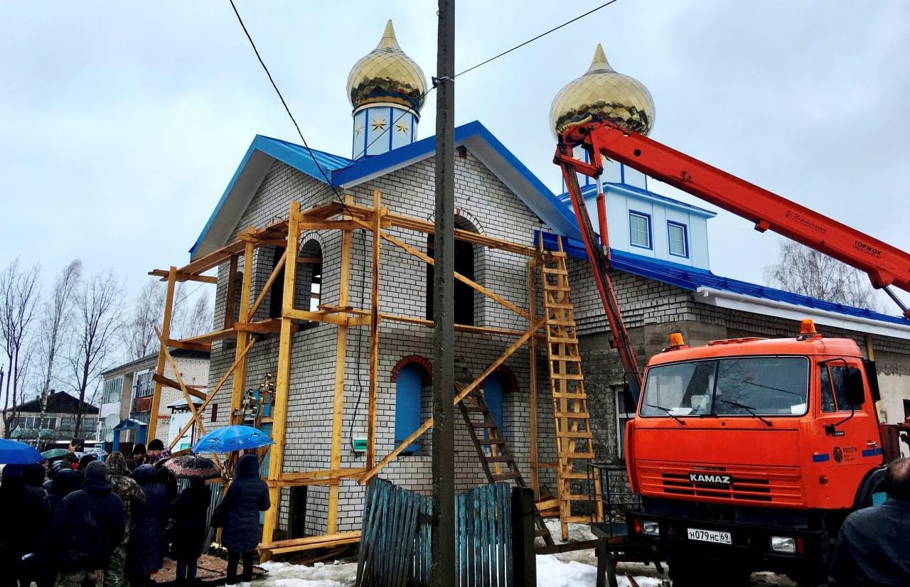 Глава Сандовского муниципального округа выразил благодарность Тверьэнерго за помощь в работах по строительству храма Казанской иконы Божией Матери - новости Афанасий