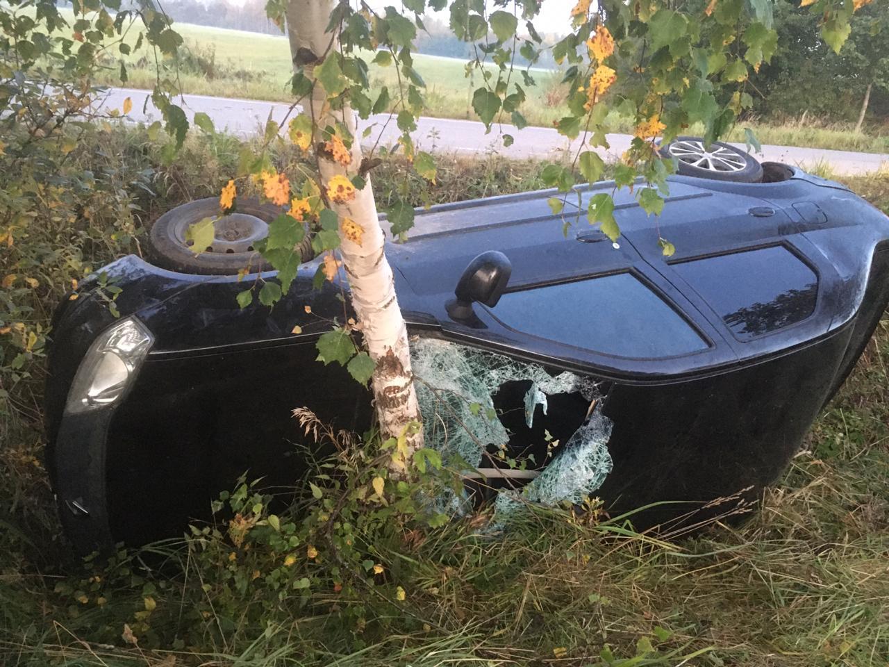Под Тверью пьяный водитель получил травмы в перевернувшейся легковушке - новости Афанасий