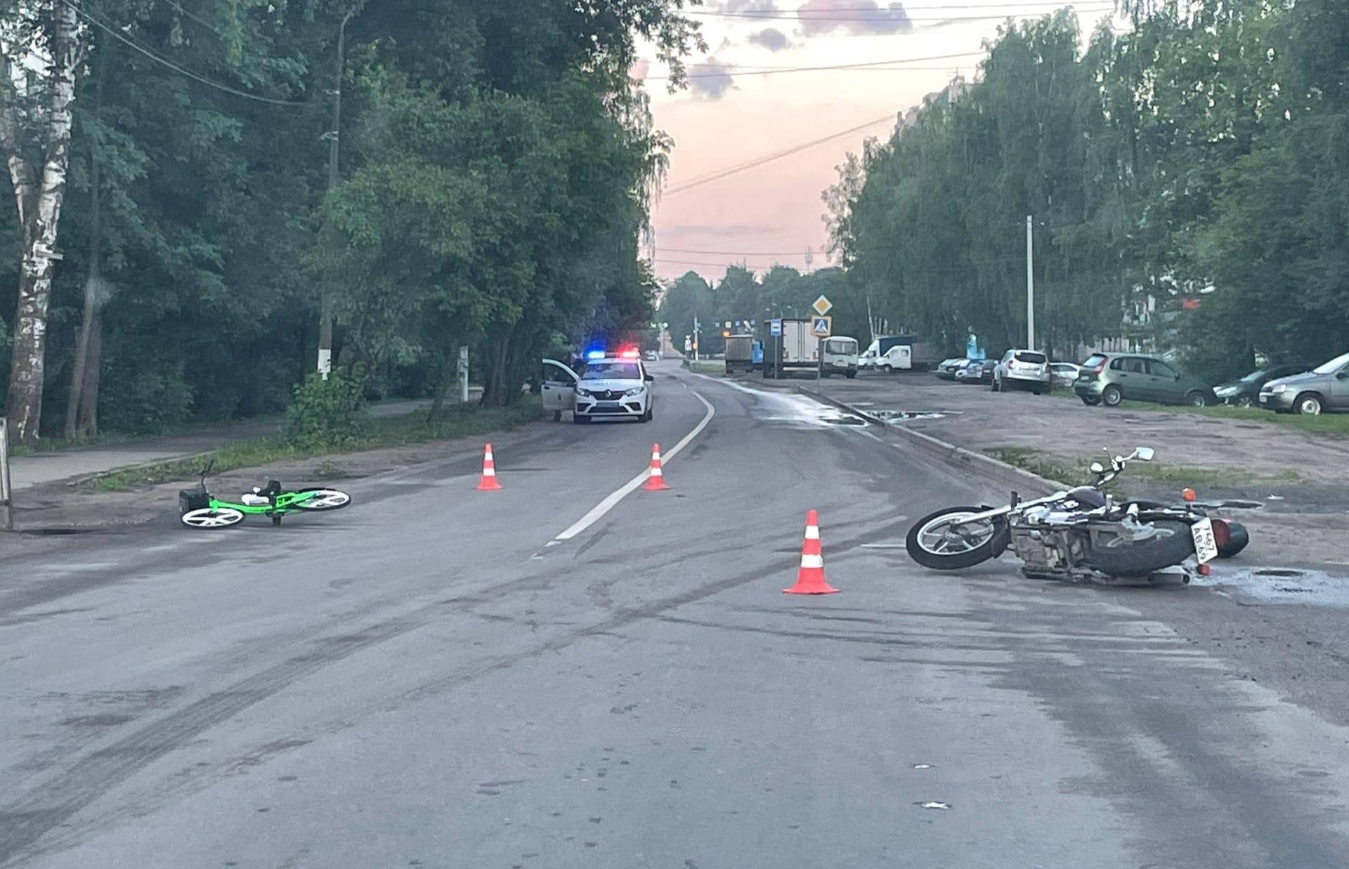 Велосипедист и мотоциклист пострадали в ДТП в Твери - новости Афанасий