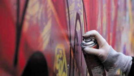 Часть стен в тверском ТЦ «Рубин» разрисуют граффити на олимпийскую тематику