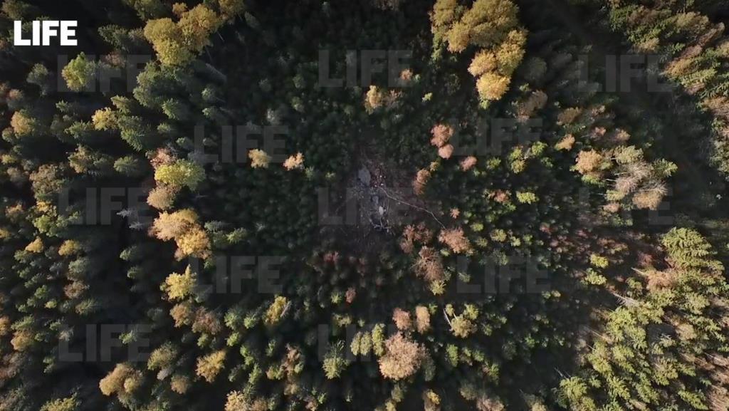Опубликовано видео с места крушения самолета Су-30 в Тверской области