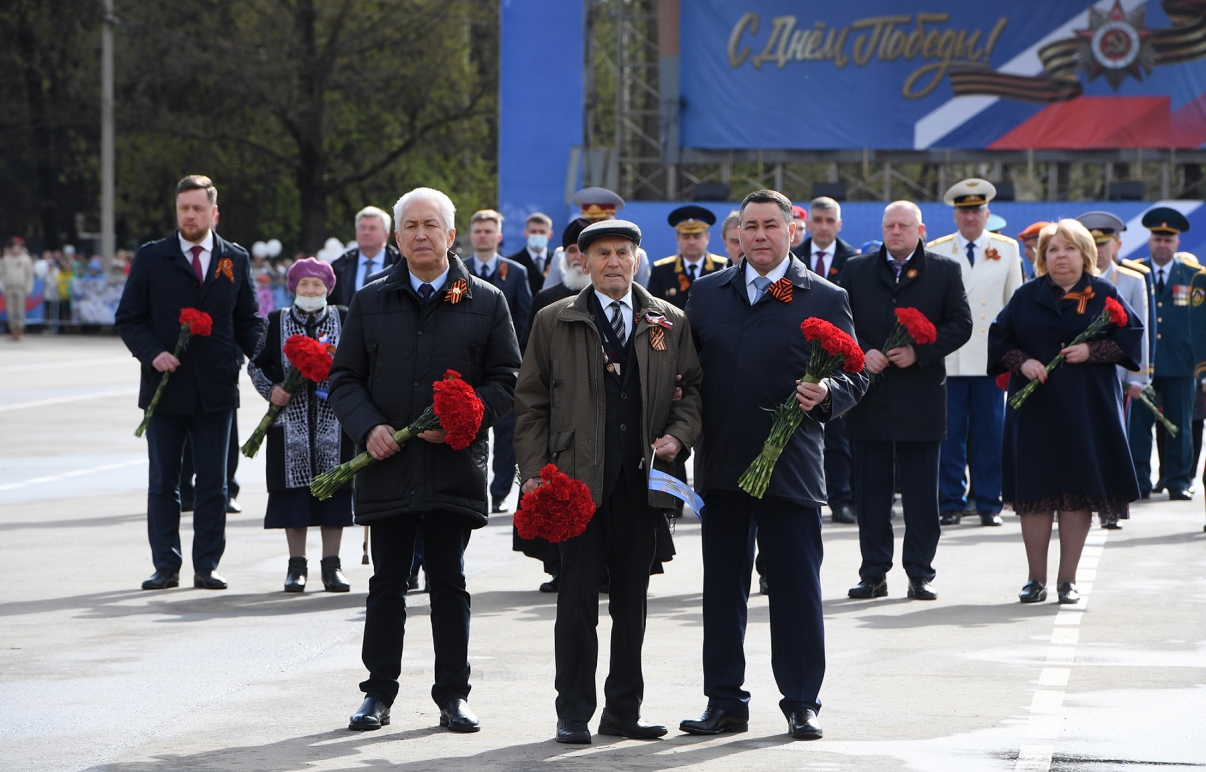 У стелы «Ржев – город воинской славы» прошло торжественное мероприятие в честь 76-ой годовщины Великой Победы