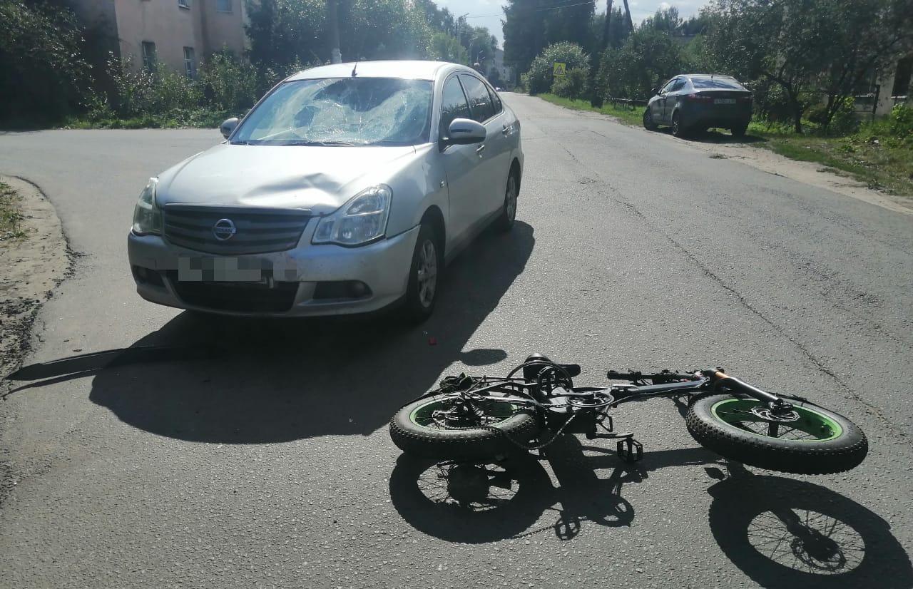 Велосипедиста сбили в Тверской области