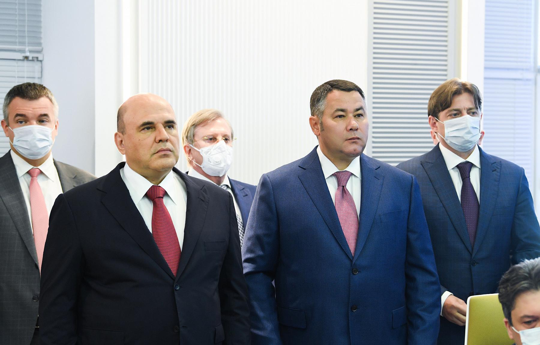 На Тверском вагонзаводе Михаилу Мишустину и Игорю Рудене представили новейшие разработки