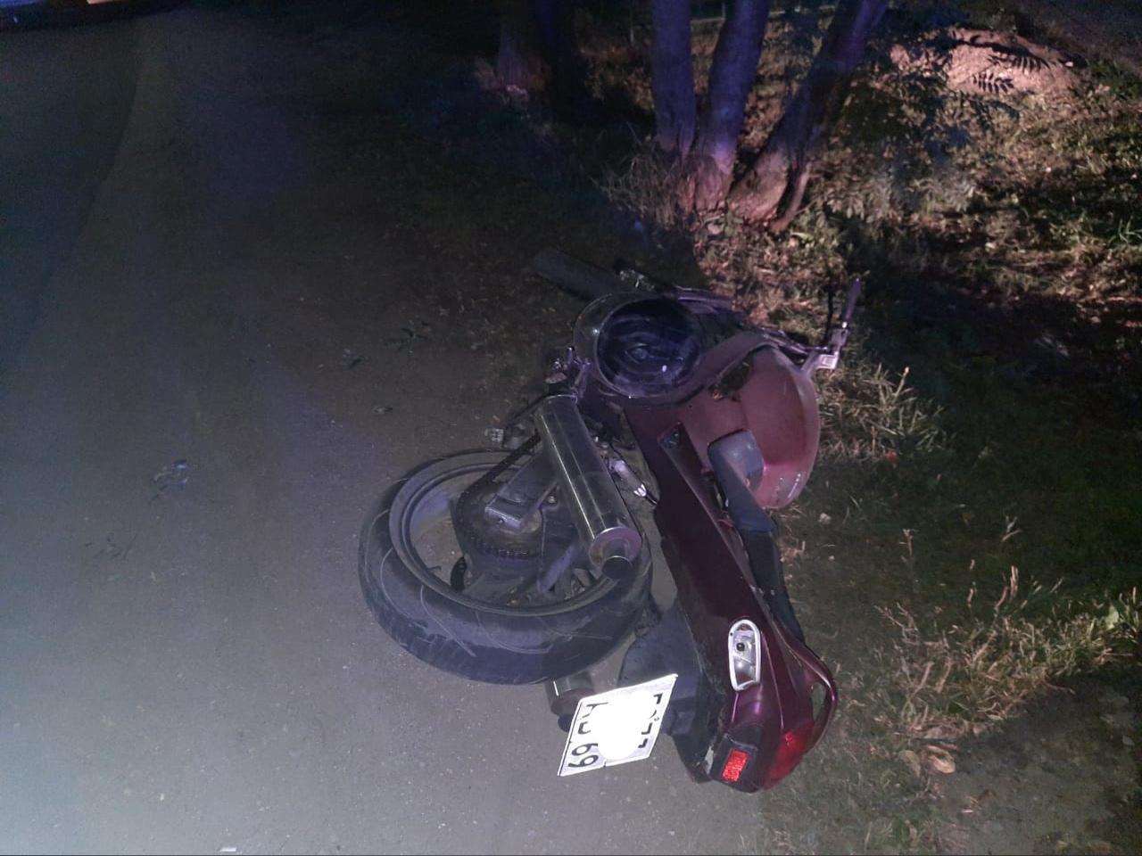 Мотоциклист получил травмы в ДТП в Тверской области