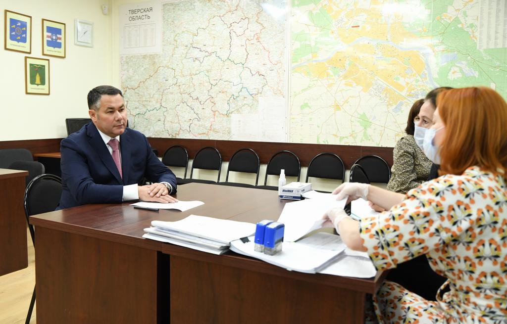 Игорь Руденя представил документы для регистрации в качестве кандидата в губернаторы Тверской области