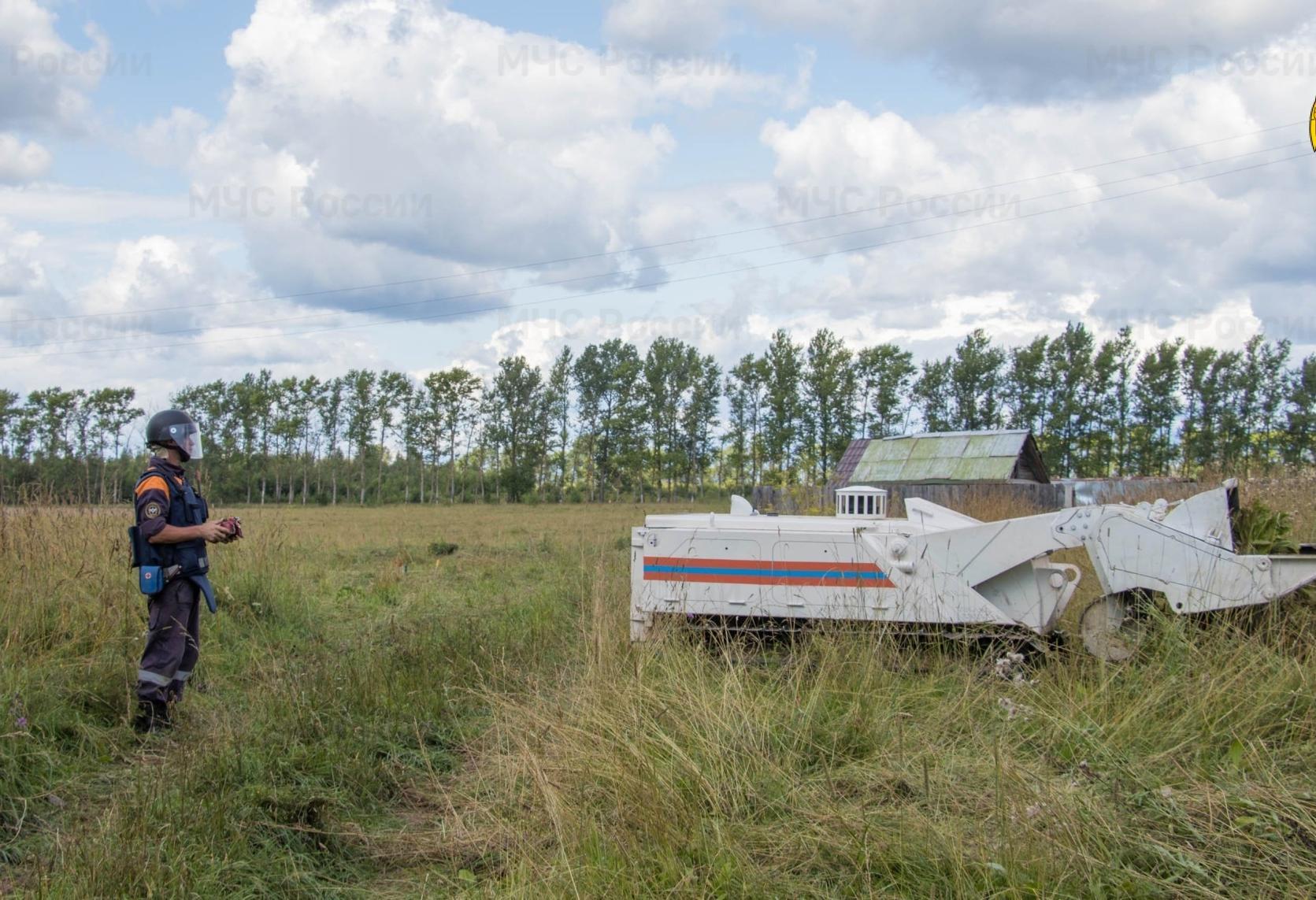 Неразорвавшиеся снаряды в Тверской области ищут с помощью роботов и беспилотника