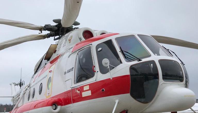 Вертолет санавиации доставил тяжелобольного пациента из Нелидово в Тверь