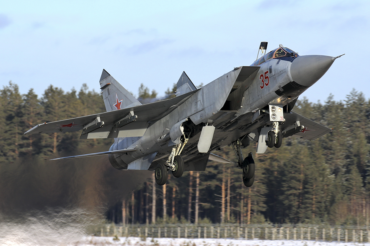 В небе Тверской области истребители отстрелялись ракетами «Воздух-воздух»