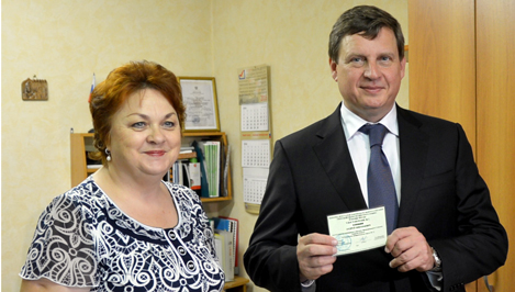 Кимрский ТИК вручил Андрею Епишину удостоверение кандидата в депутаты Законодательного Собрания