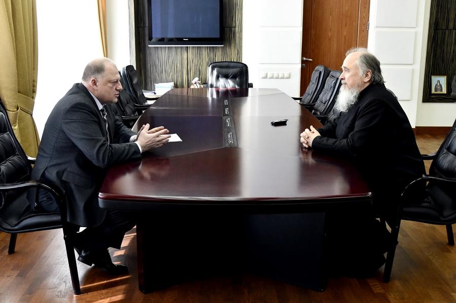Состоялась встреча Сергея Голубева с протоиереем Леонидом Водолазским