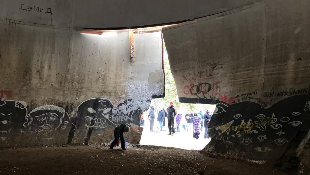 Жители Кимр обнаружили, что в Кимрском районе сломали знаменитый шар