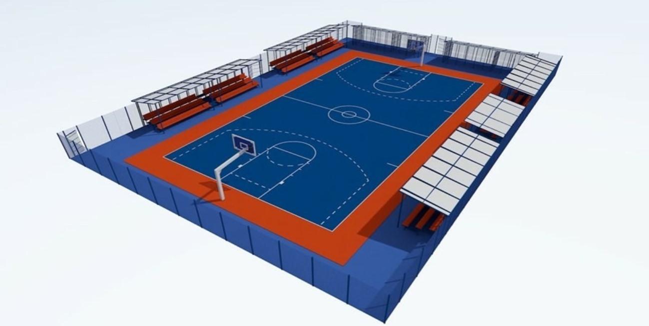 Новая баскетбольная площадка появится на территории спорткомплекса Калининской АЭС