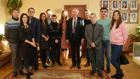 В канун Татьяниного дня ректор ТвГТУ Андрей Твардовский встретился со студентами за чашкой чая