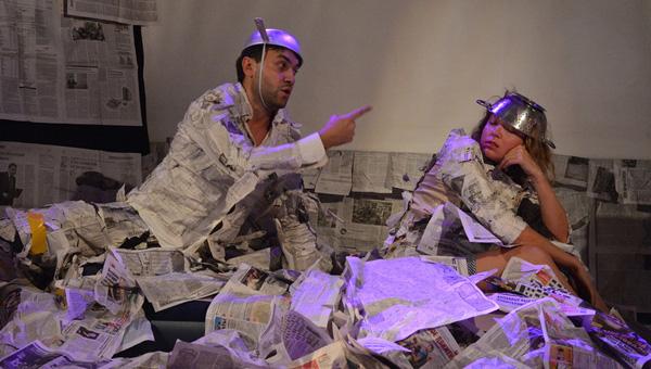 В Твери состоялась премьера спектакля-перформанса «#Любовь#Война#Бред»