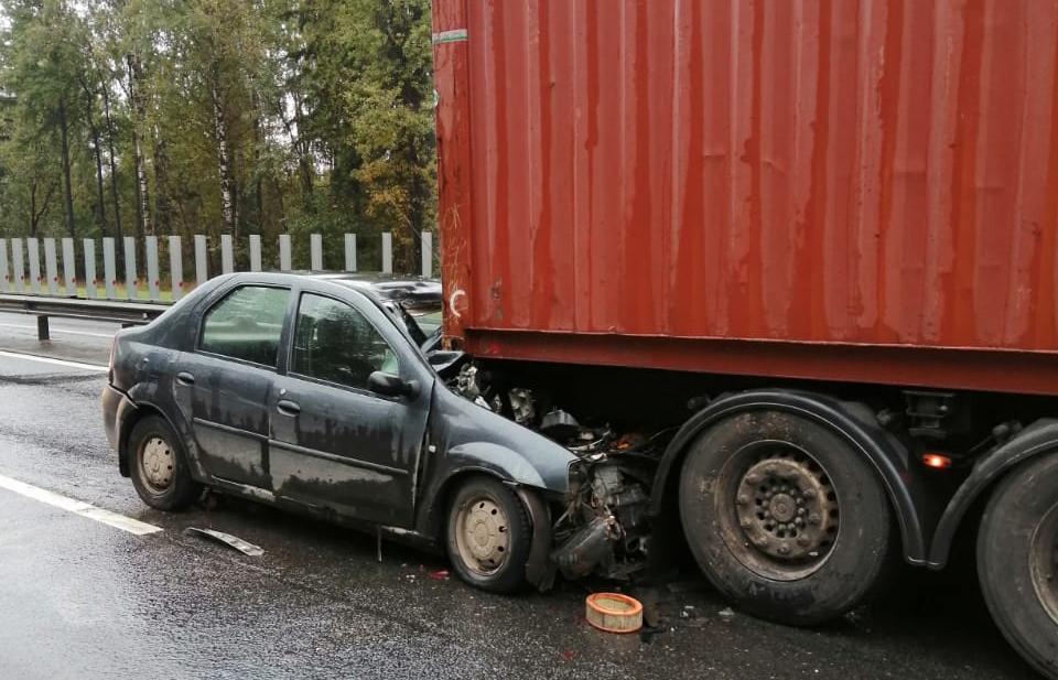 На трассе М10 под Тверью легковушка влетела под грузовик, пострадали два человека - новости Афанасий