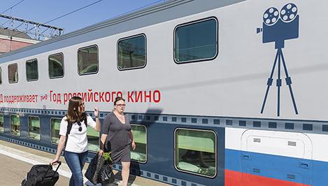 Составленный из созданных в Твери вагонов кинематографический поезд отправился из Москвы в Адлер