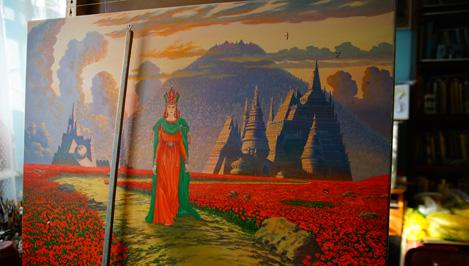 Картины в другое измерение: в Твери живет и работает один из самых известных художников-славянистов Всеволод Иванов / фото