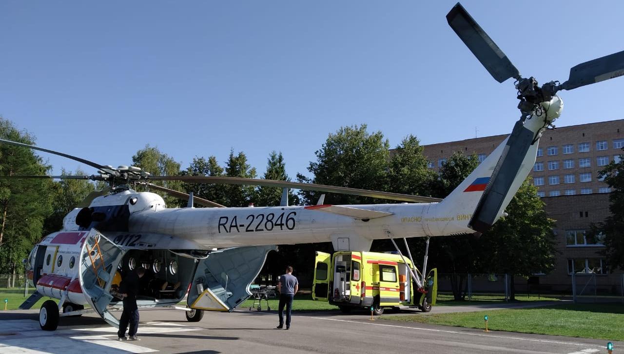 За три дня вертолет санавиации вылетал в четыре района Тверской области