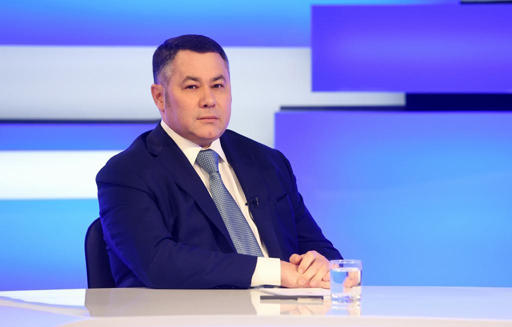 Губернатор Игорь Руденя ответит на актуальные вопросы в прямом эфире телеканала «Россия 24» Тверь - новости Афанасий