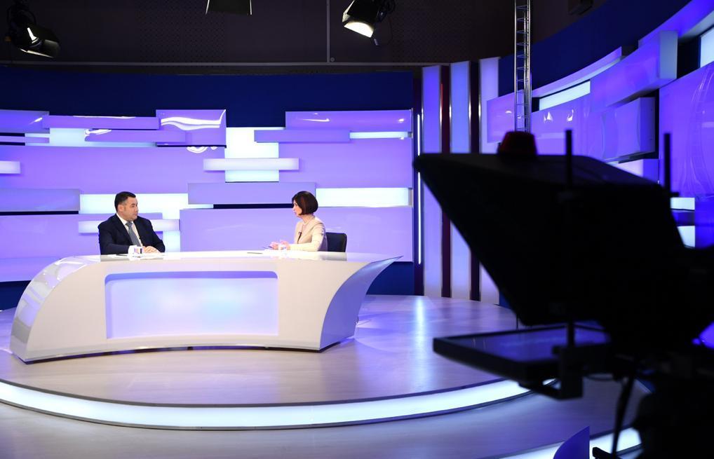 Игорь Руденя ответил на актуальные вопросы в прямом эфире телеканала «Россия 24» Тверь - новости Афанасий