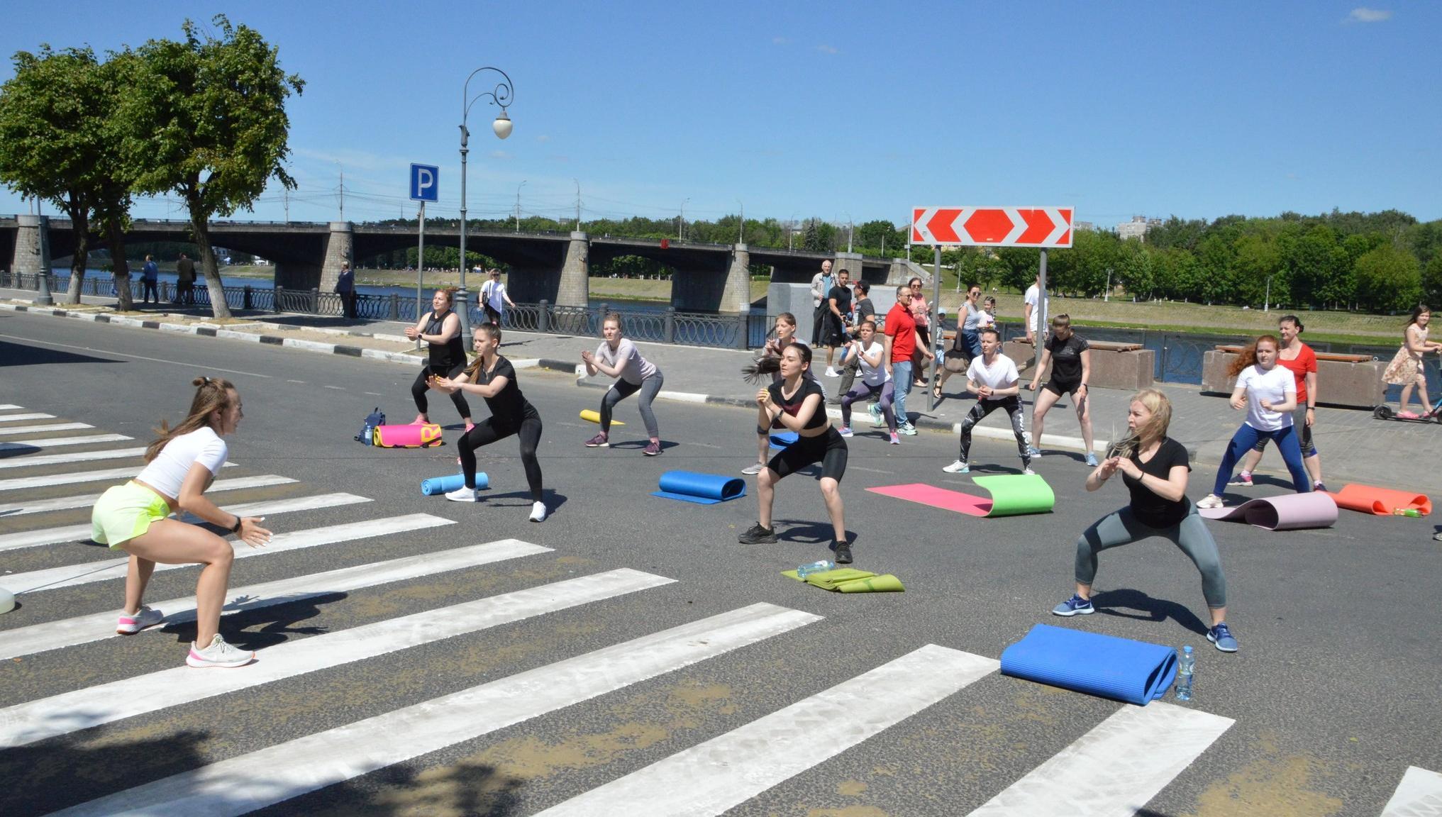 Набережная в Твери в выходные снова станет пешеходной зоной спортивного праздника