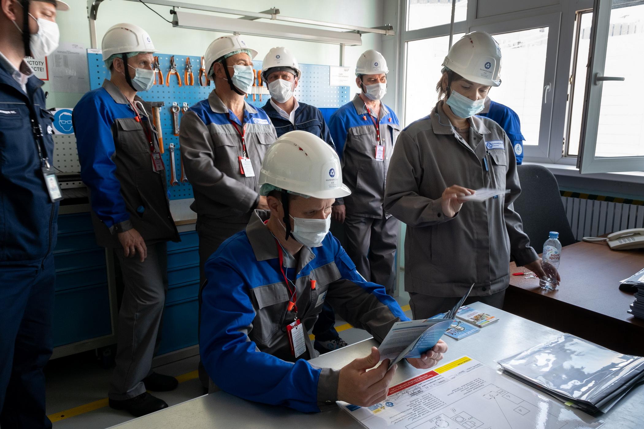 На Калининской АЭС специалисты производственного объединения «МАЯК» прошли стажировку по вопросам управления охраной труда
