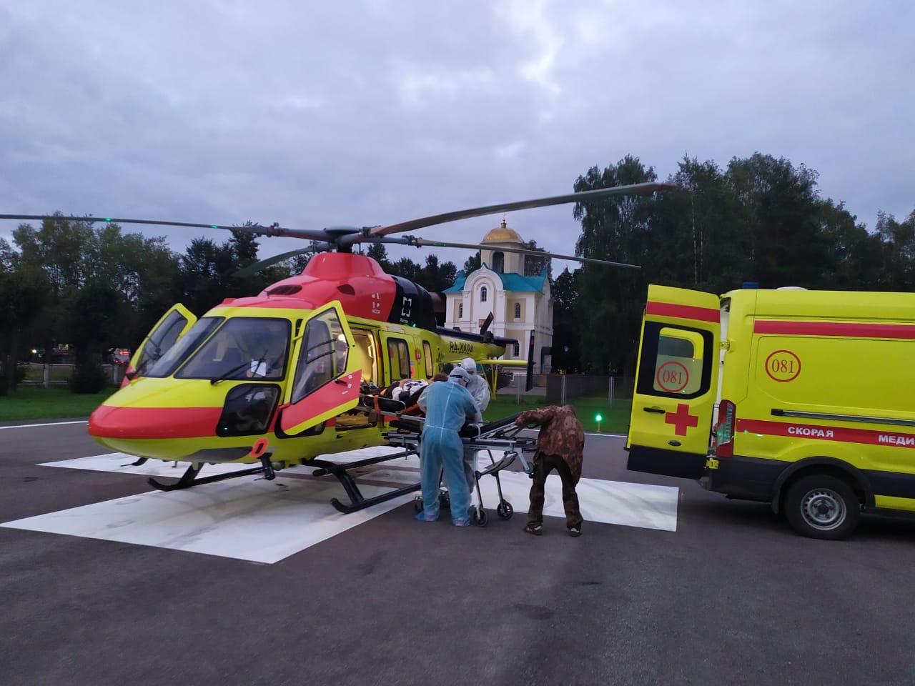 Женщину со стенозом трахеи вертолетом доставили в Тверь - новости Афанасий