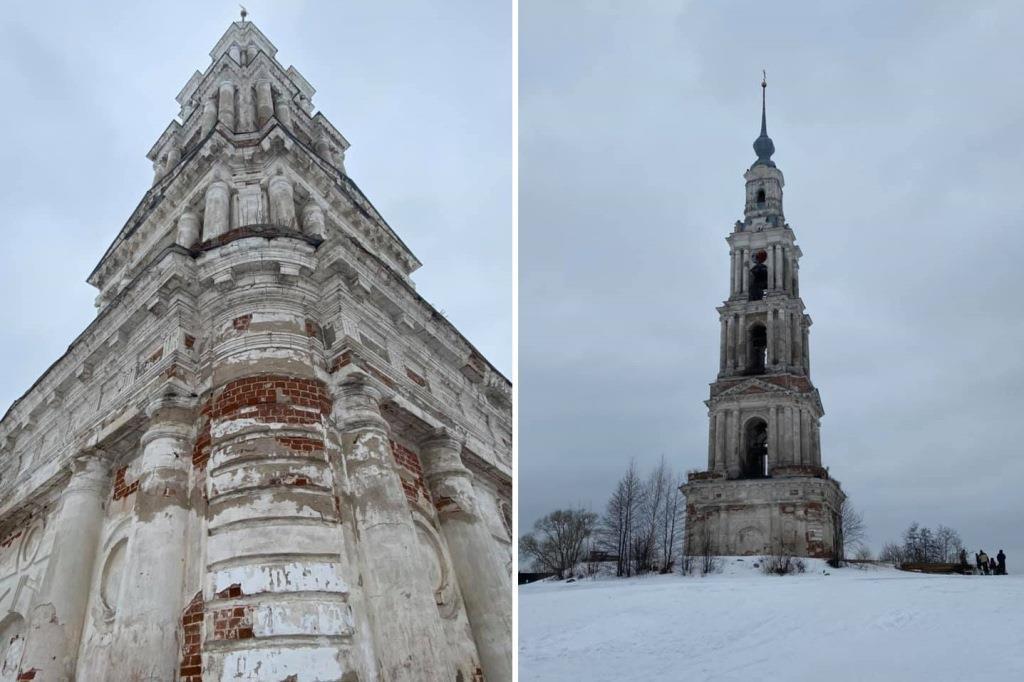 В Калязине начали подготовку к реставрации колокольни