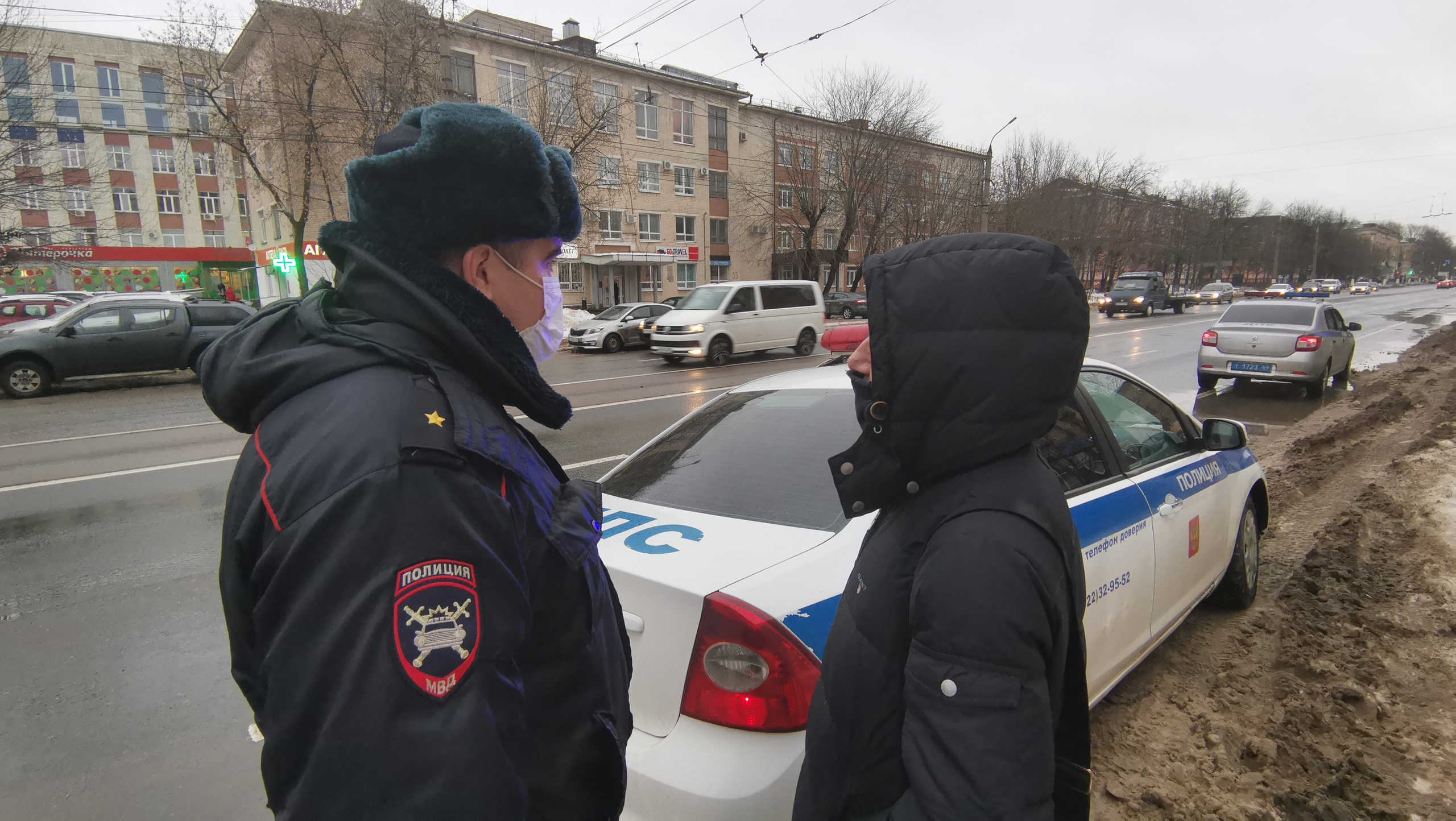 В Твери автоинспекторы ловили нарушителей ПДД среди пешеходов - новости Афанасий