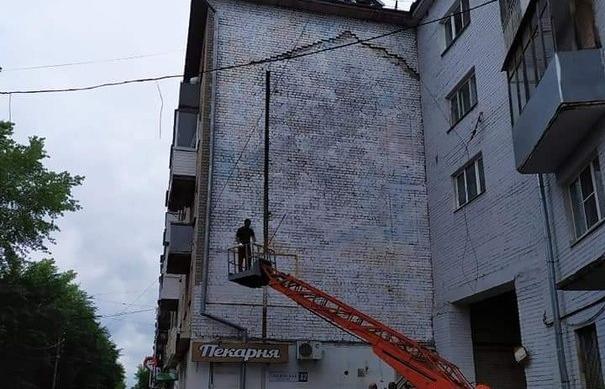 В Твери закрасили граффити с портретом Солженицына - новости Афанасий