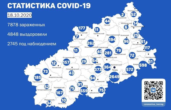 Карта коронавируса в Тверской области к 18 октября - новости Афанасий