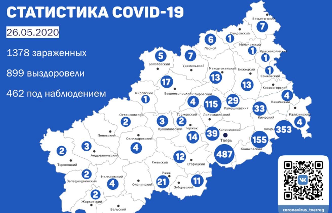 Карта коронавируса в Тверской области: данные на 26 мая - новости Афанасий