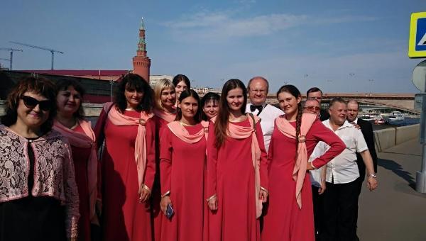 Хоровая капелла ДК «Пролетарка» выступила у стен Кремля