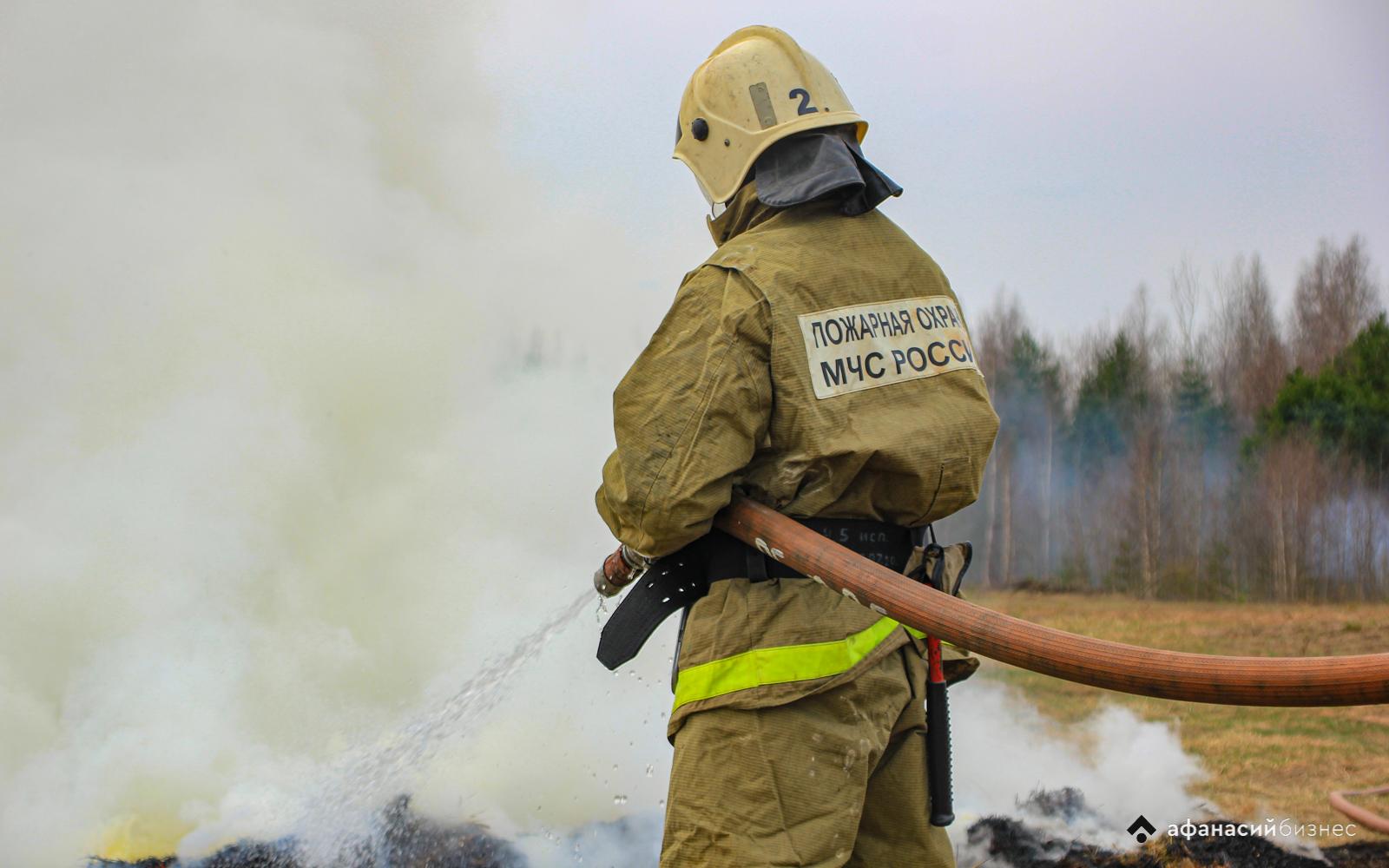В мае в Тверской области уже 35 раз тушили сухую траву