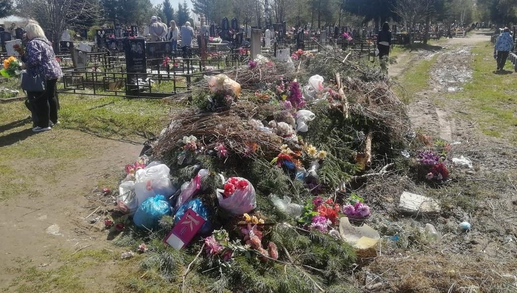 Из-за раскисших дорог с кладбища в Бежецке Тверской области не могут вывезти мусор - новости Афанасий