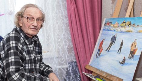 Художник Лев Бейлин отмечает 90-летний юбилей