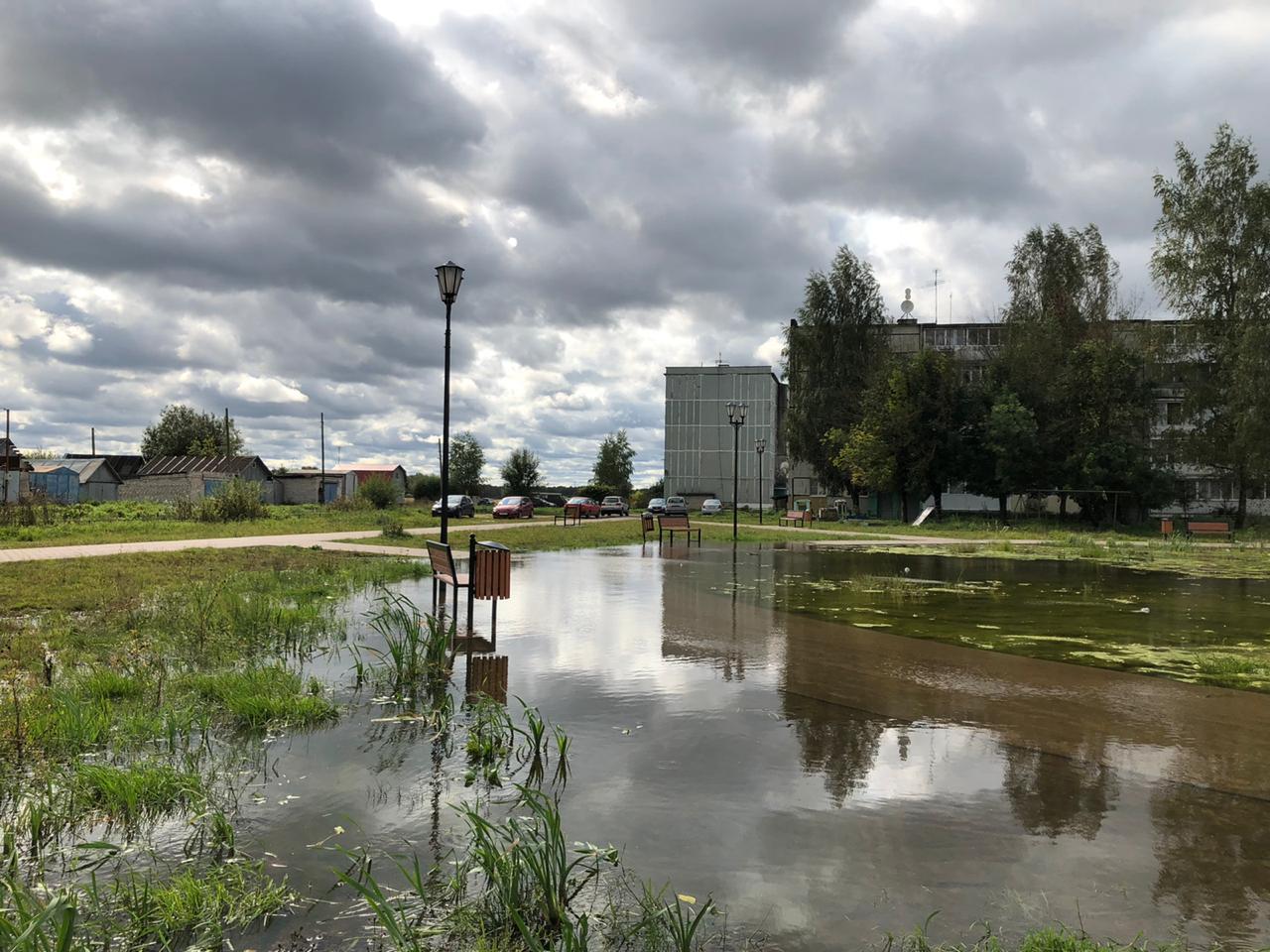 В поселковой администрации объяснили причину затопления парка в деревне Рязаново - новости Афанасий