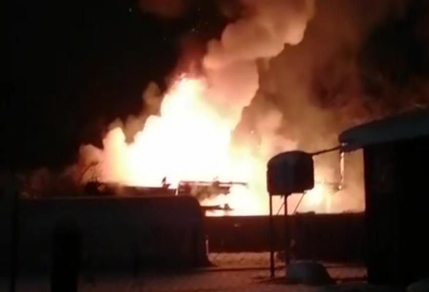 В Тверской области сгорел жилой дом